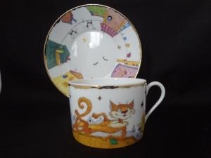 Пара для завтрака Кот и кошка