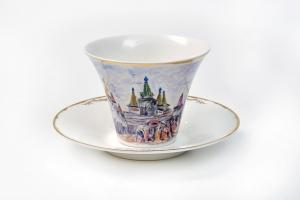 Чайная пара по картине А. Архипова